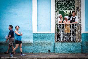 Trinidad Watching tourists
