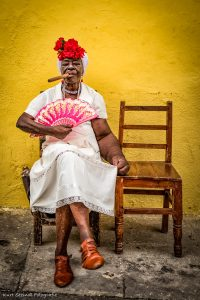 Habana Woman with cigar