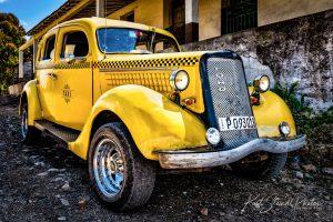 Yellow Cuba Car